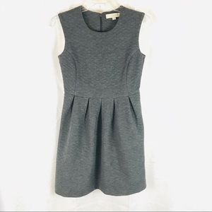 LOFT Charcoal Gray Quilted Sleeveless Dress 0